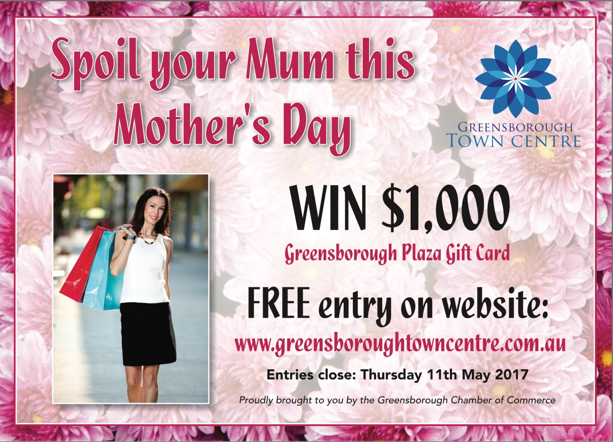 Win 1000 greensborough plaza gift card for mum greensborough town back to news reheart Images